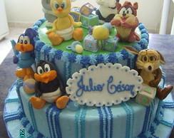 Bolo Decorado Baby Looney Tunes
