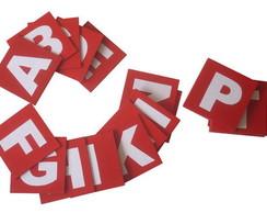 placas alfabeto