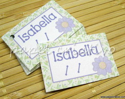 Tag Lembrancinha - floral lil�s