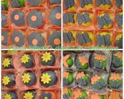 Docinhos Modelados - Flores e Borboletas