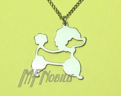 Colar Cachorro Poodle Lili A�o Inox