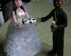 topo de bolo noivinhos personalizados