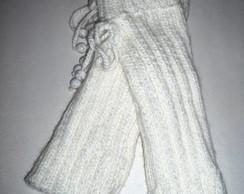 Polaina Branca em Tricot