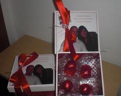 Caixa MDF para bombons  para casamento