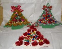 �rvores de natal em croch�