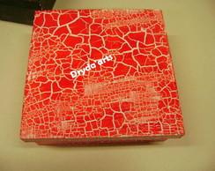 Caixa craquel� vermelha