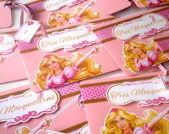 Convite Envelope Barbie e as Tr�s Mosq.