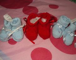 Sapatinhos de beb� em tric�