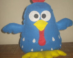 Enfeite de mesa da galinha pintadinha.