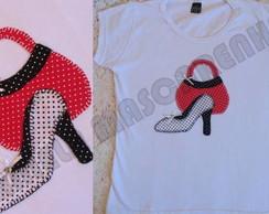 Camiseta Bolsa com scarpin