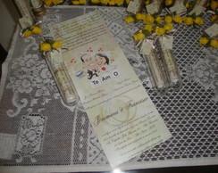 Convite Casamento no Tubo