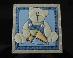 Caixa decorada madeira- urso