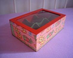Caixa de Ch� grande com vidro
