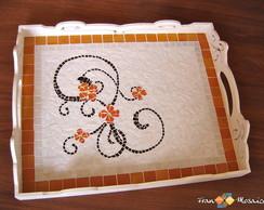 """Bandeja Mosaico """"Flores II"""""""