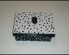 Caixa bolinha preta e branca - Vendida