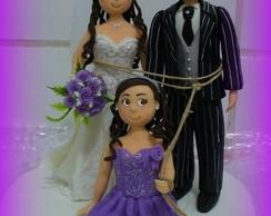 Topo de bolo - Casamento Malu e Paulo