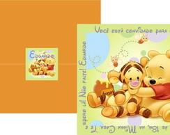 Convite Ursinho Pooh Baby verde