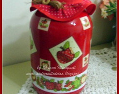 Pote Decorado Ma�a Patchwork