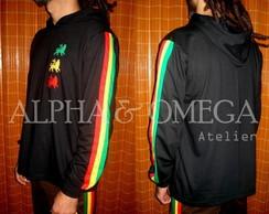 Camiseta Reggae Le�es PRETA (mang. long)