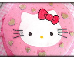 Bolo face da Hello Kitty decorado