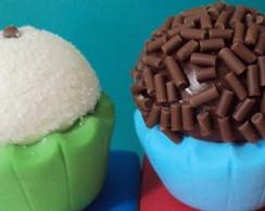 Bombom, brigadeiro e beijinho - Biscuit