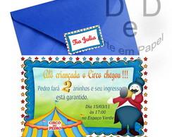 Convite plano tema circo