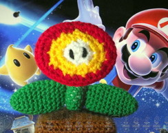 Fire flower (power-up flor de fogo)