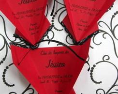 convite ch� de lingerie corselet