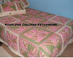 COLCHA DE CATAVENTO EM PATCHWORK