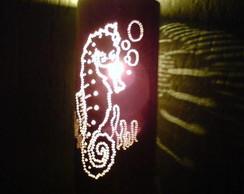 Lumin�ria cavalo marinho