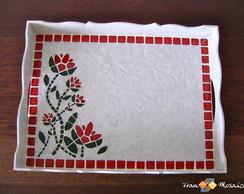 """Mosaico Bandeja """"Floral"""""""
