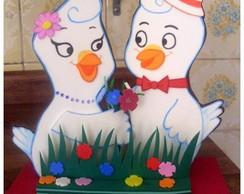 Pombinha branca e seu namorado