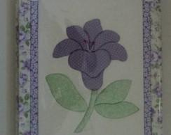 Caderno Decorado - Lirio Lilas