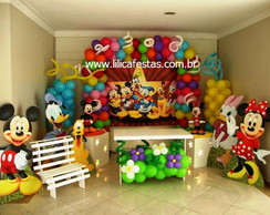 Decora��o Clean Turma do Mickey e Minnie