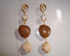 Brincos dourados (formas diversas)