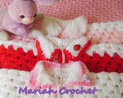 Casaquinho recem-nascido em croch�
