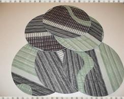 Sousplat tecido verde - Vendido