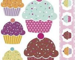 Cartela Decorativa Scrapbook Cupcake