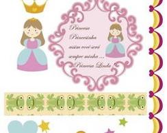 Cartela Decorativa Scrapbook Princesa