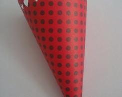 Cone para guloseimas scrap cora��o
