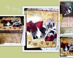 Caixa de fotos para 12 albuns