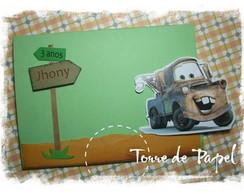 Convite Cars - Mater