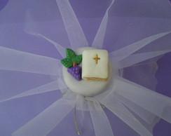 Mini vidro decorado com biscuit