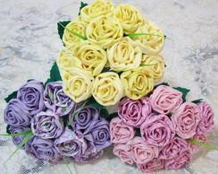 Buqu� de Rosas em Tecido 15 rosas