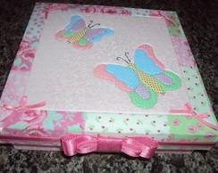Caixa Borboletas Rosa