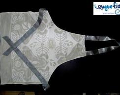 Avental em Tecido Branco de Algod�o