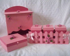 Kit Higi�ne do Beb� Cerquinha Rosa