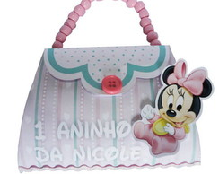Convite Bolsinha Disney Baby