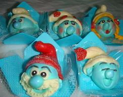 Docinhos modelados Smurfs