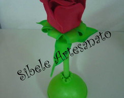 caneta flor vermelha